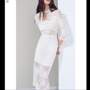 Nwot alexis white lace dress